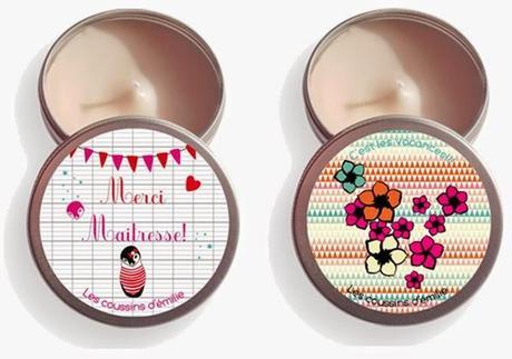 Bougies parfumées personnalisables par Les coussins d'Emilie