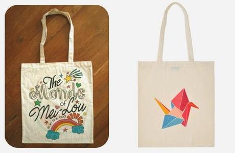 Tote bag personnalisé par Charlie's Dream & Tote bag Origami par Petite Mila