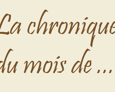 """Twitter Challenge 2015: """"Une chronique, un mois""""."""