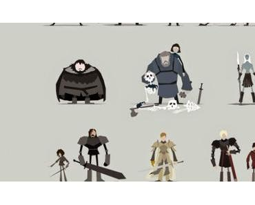 Illustrations minimalistes de Game of Thrones de Jerry Liu