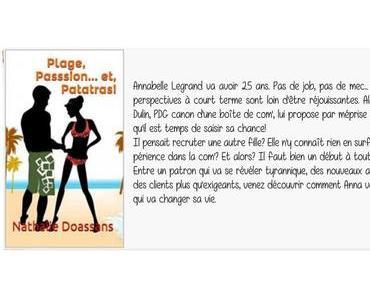 """""""Plage, Passion… et, Patatras!"""" de Nathalie Doassans"""
