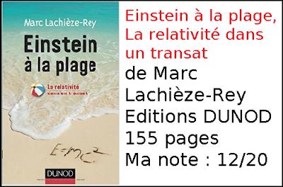 Einstein à la plage, La relativité dans un transat de Marc Lachièze-Rey