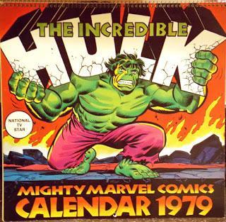 1979 : LE CALENDRIER MARVEL AVEC HULK