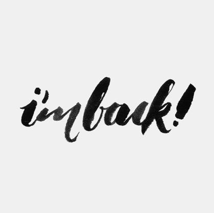I'm back !