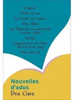 Prix Clara 2012 : Nouvelles d'ados