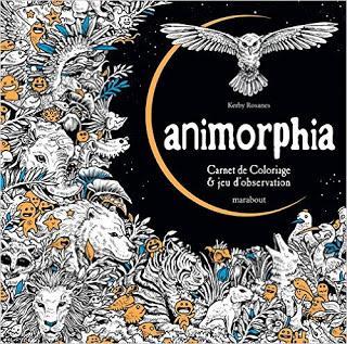 Animorphia, carnet de coloriage & jeu d'observation de Kerby Rosanes
