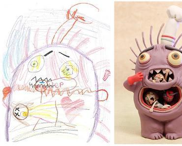 Ces dessins d'enfants revisités par des artistes