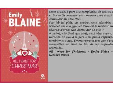 All I want for Christmas – Emily Blaine