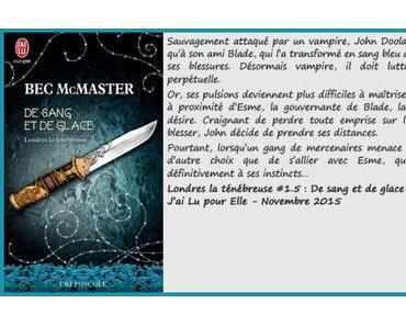 Londres la ténébreuse #1.5 : De sang et de glace – Bec McMaster
