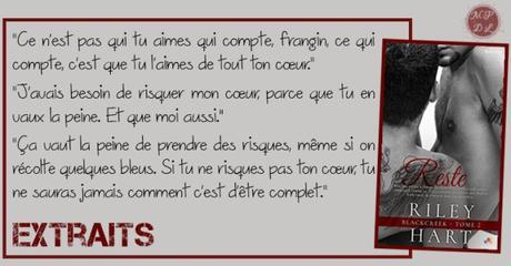 Blackcreek #2 – Reste – Riley Hart ♥♥♥♥♥