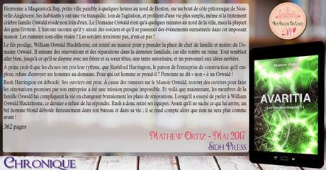 Les sorciers Oswald #1 – Avaritia – Mathew Ortiz