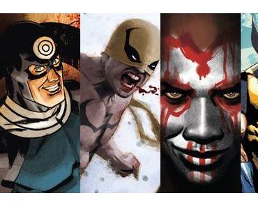 Bullseye #4, Iron Fist #3, Moon Knight #13, Old Man Logan #23