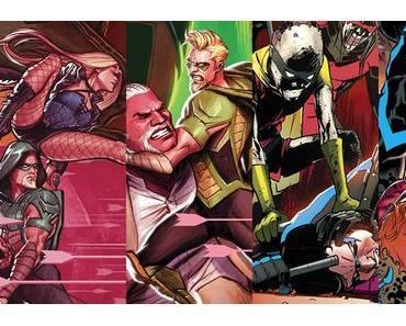 Green Arrow #22, Green Arrow #23, Nightwing #20, Nightwing #21