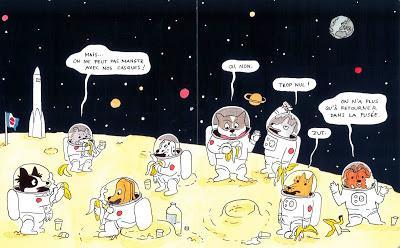 Sieste dans la nature ou goûter sur la Lune?