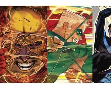 The Flash #26, Green Arrow #26, Nightwing #24