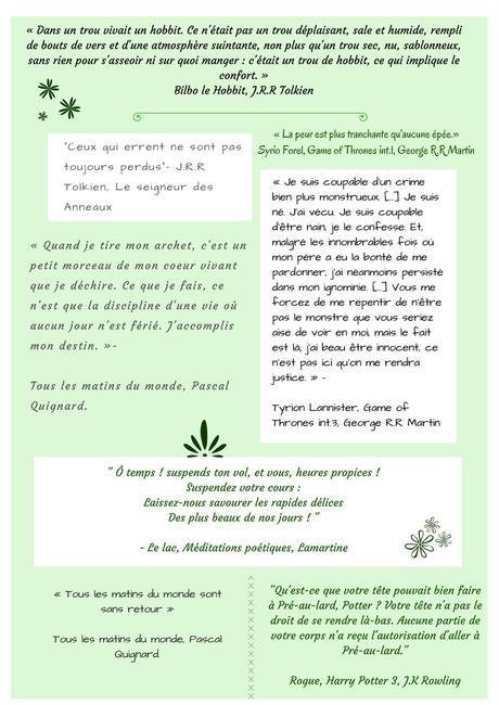 Petit Florilège De Citations