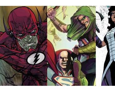 The Flash #28, Green Arrow #28, Nightwing #26