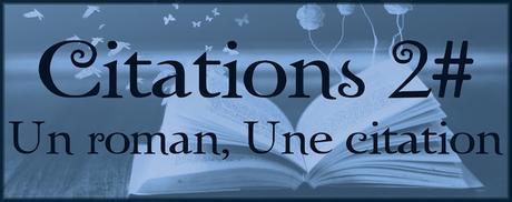 Citations #2 : Un roman, une citation