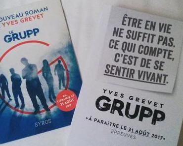 Le livre du lundi : Grupp