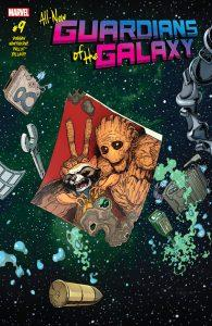 All-New Guardians of the Galaxy #8, All-New Guardians of the Galaxy #9, Royals #6, Royals #7