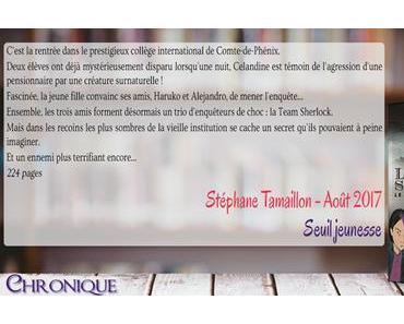 La Team Sherlock #1 – Le mystère Moriarty – Stéphane Tamaillon