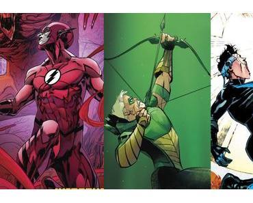 The Flash #30, Green Arrow #30, Nightwing #28