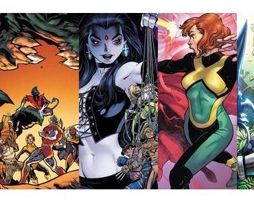 X-Men Gold #12, X-Men Blue #12, Jean Grey #7, Cable #5