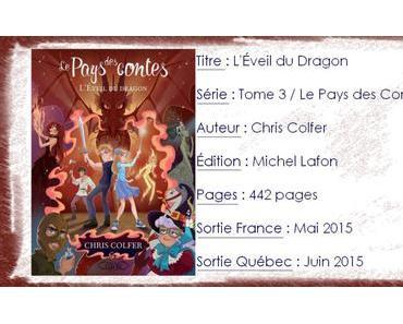 Le Pays des Contes #3 L'Éveil du Dragon de Chris Colfer