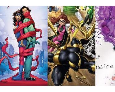 Ms. Marvel #24, Spider-Man #234, Jessica Jones #24