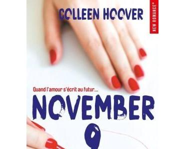 Chronique Lecture n°95 : November 9,    ( Colleen Hoover )