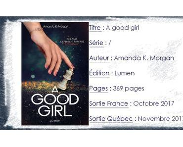 A Good Girl d'Amanda K. Morgan