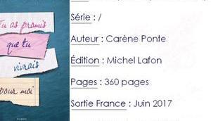 promis vivrais pour Carène Ponte