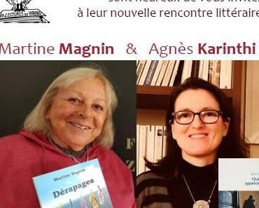 Rencontre littéraire avec Martine Magnin et Agnès Karinthi