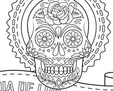 Coloriages Dia de los Muertos