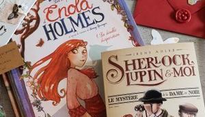 enquêtes d'Enola Holmes double disparition Sherlock, Lupin mystère dame noir