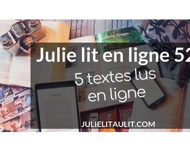 Julie lit en ligne   Semaine 52