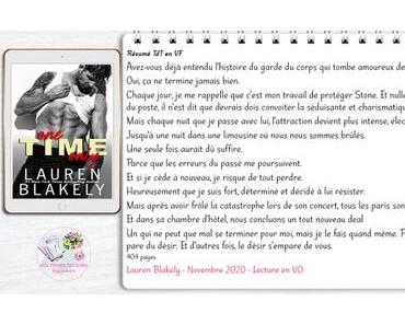 One Time Only – Lauren Blakely (Lecture en VO)