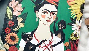 Album jeunesse pinceaux pour Frida