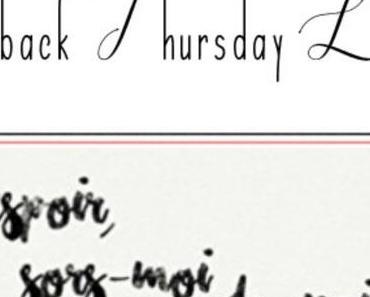Throwback thursday livresque n°96 – Un livre que…