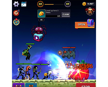 Code Triche Idle Stickman Heroes: Monster Age APK MOD (Astuce)